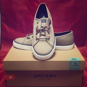 Women Sperry Pier View Canvas Taupe